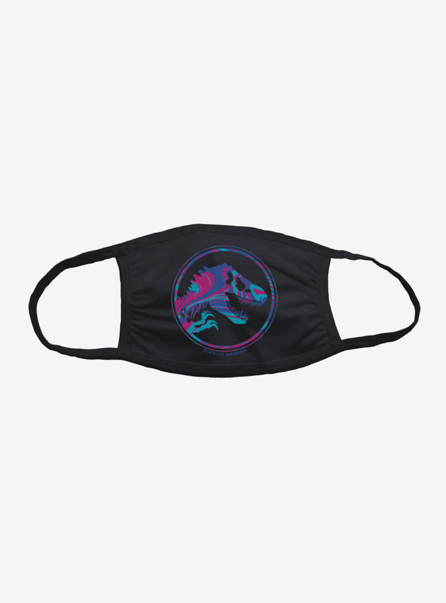 Jurassic World Blue Pink Logo Face Mask