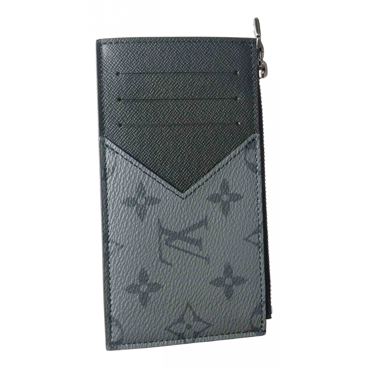 Louis Vuitton  Coin Card Holder Grey Cloth Small bag, wallet & cases for Men N