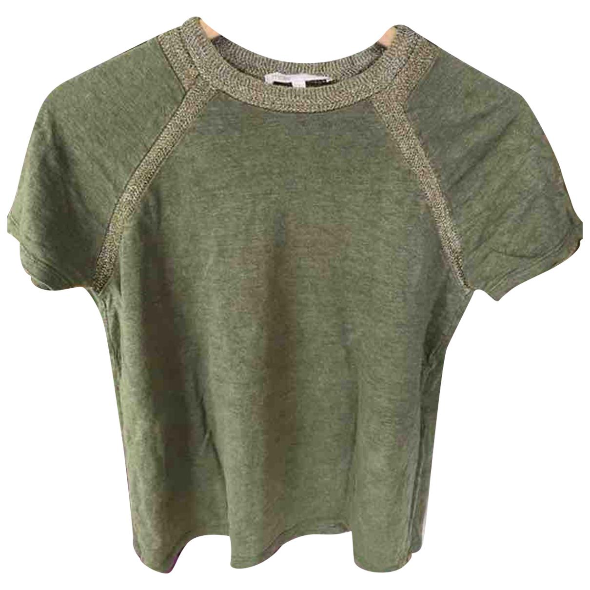 Maje N Green Linen  top for Women 34 FR
