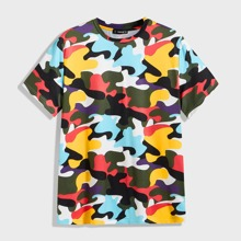 Maenner T-Shirt mit Camo Muster