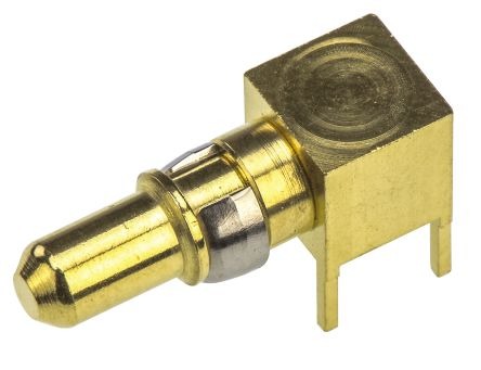 TE Connectivity DIN 41612 Series Right Angle Male Gold, Palladium Plated Brass DIN Connector Contact