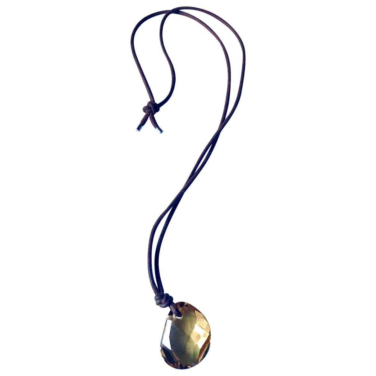 Swarovski - Collier   pour femme en verre - marron