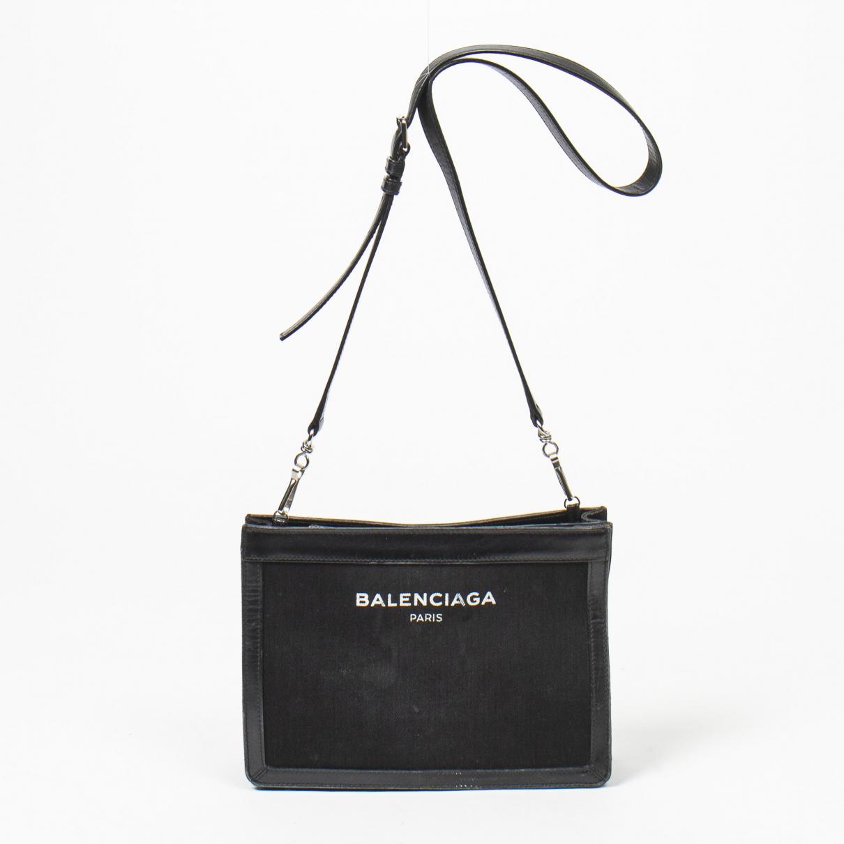 Balenciaga - Sac a main   pour femme en toile - noir