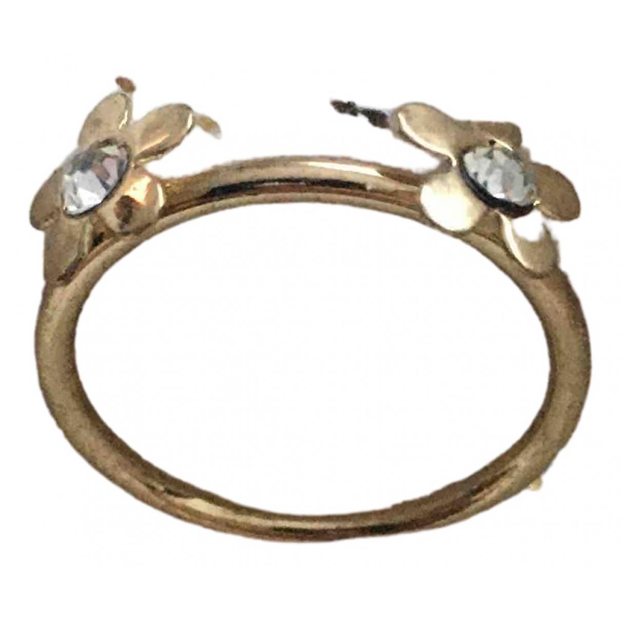 - Bague Motifs Floraux pour femme en metal - dore