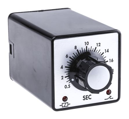 Tempatron DP-NO/NC Timer Relay - 0.5 → 20 s, 2 Contacts, ON Delay Energise, Plug In