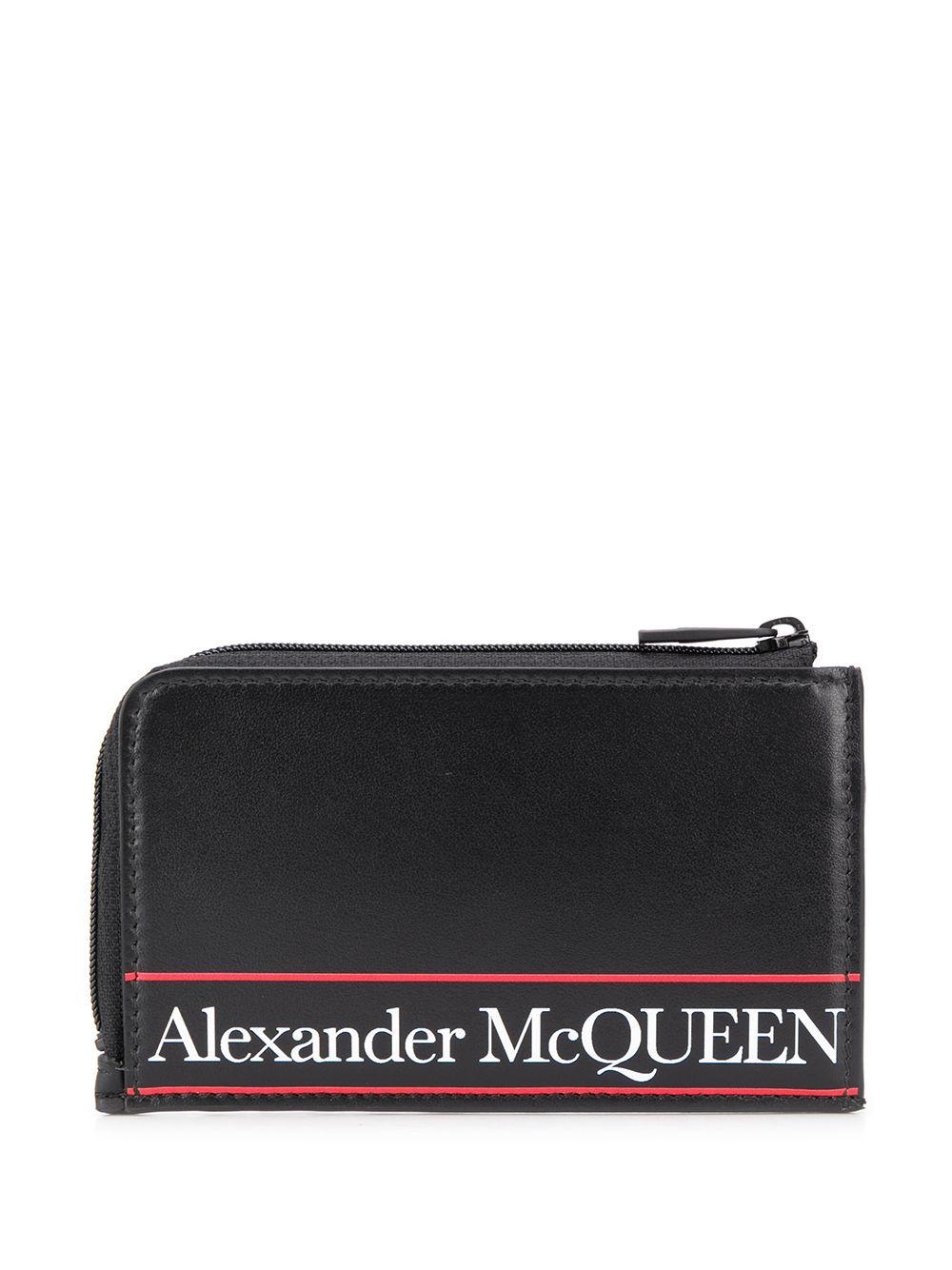 Logo Print Leather Wallet