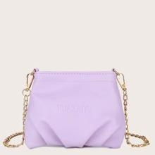 Mini Ruched Chain Bag