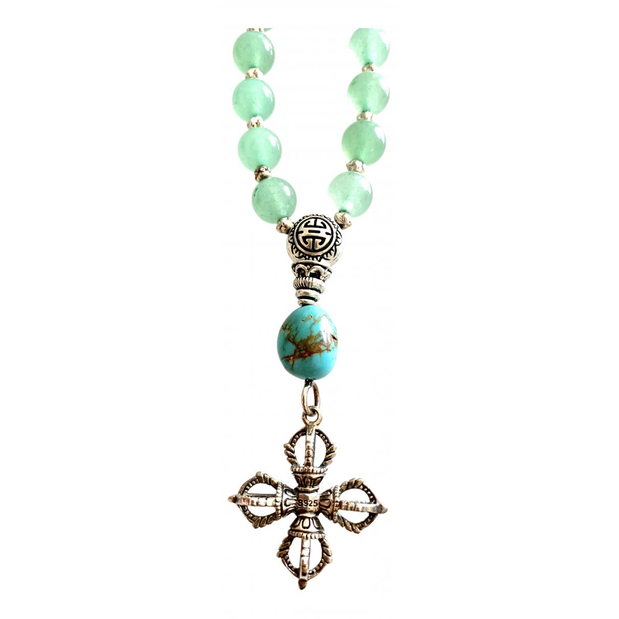 Non Signe / Unsigned \N Halskette in  Gruen Perlen