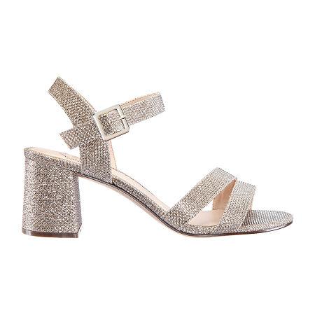 I. Miller Womens Niobe Heeled Sandals, 5 1/2 Medium, Brown