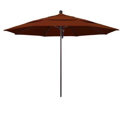 ALTO118117-SA40-DWV 11' Venture Series Commercial Patio Umbrella With Matted White Aluminum Pole Fiberglass Ribs Pulley Lift With Pacifica Brick
