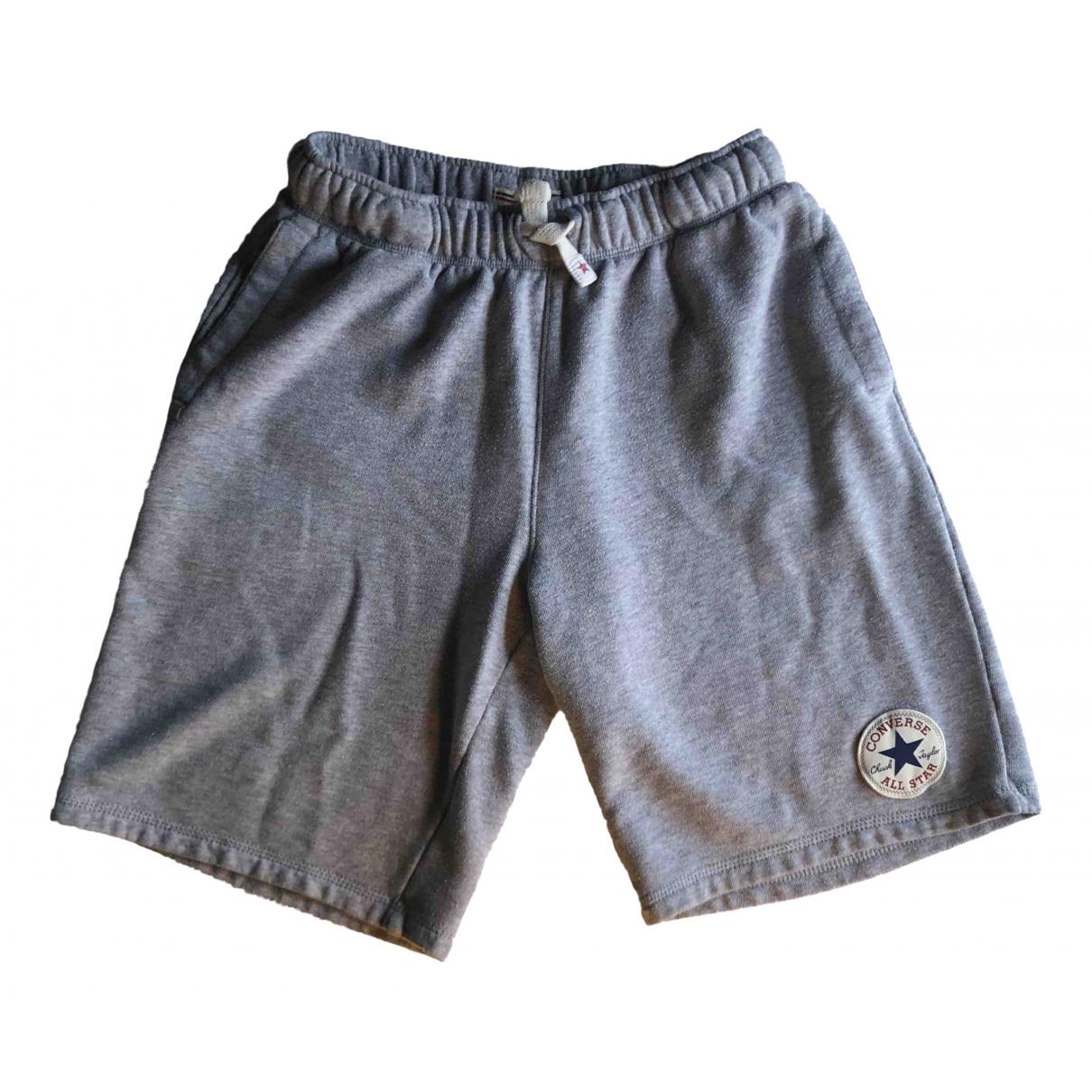 Converse - Short   pour homme en coton - gris