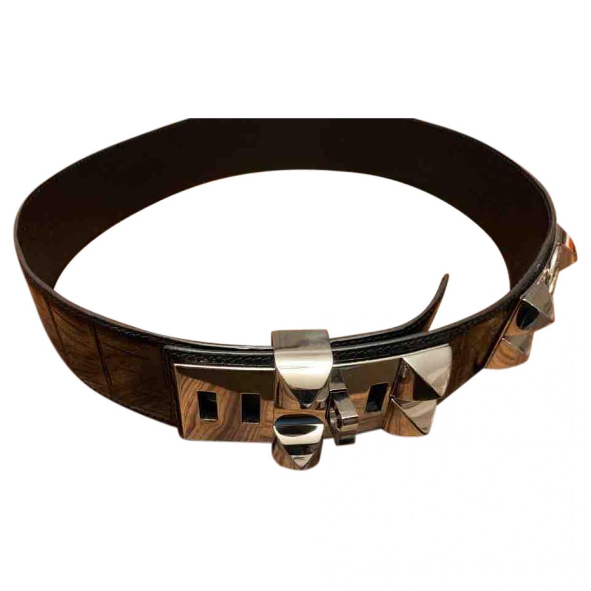 Cinturon Collier de chien de Aligator Hermes