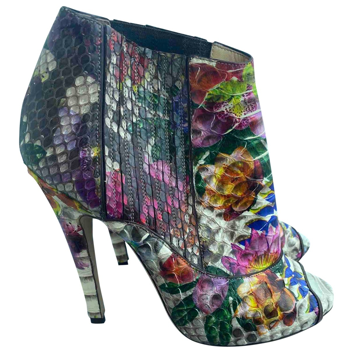 Jimmy Choo \N Multicolour Python Ankle boots for Women 39 IT