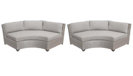 TKC055b-CAS-DB-ASH Curved Armless Chair 2 Per Box - Grey and Ash