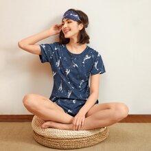 Marineblau  Cartoons  Suess Pyjama Sets