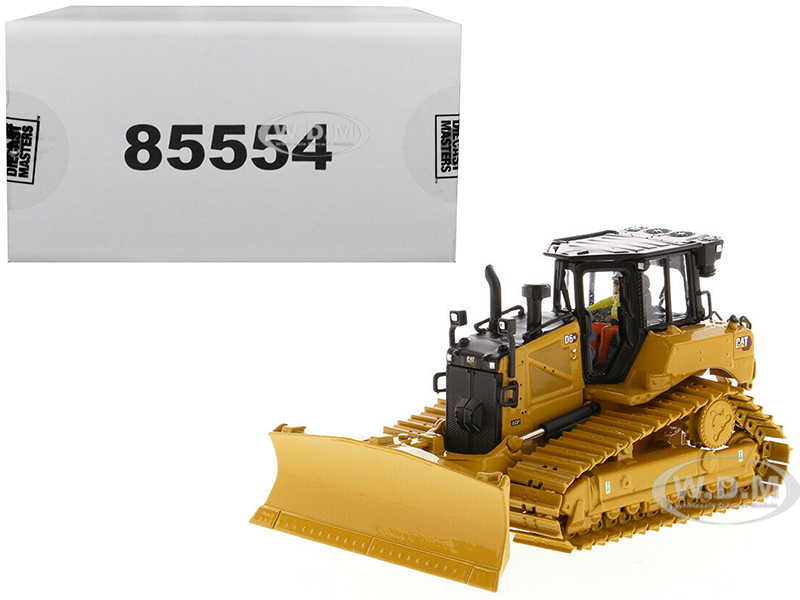 CAT Caterpillar D6 XE LGP Track Type Tractor Dozer with VPAT Blade and Operator High Line Series 1/50 Diecast Model by Diecast Masters