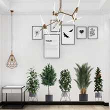 2sheets Plants Print Wall Sticker
