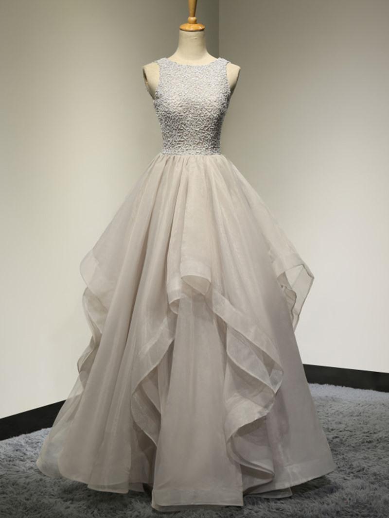 Ericdress A-Line Halter Appliques Lace Floor-Length Evening Dress