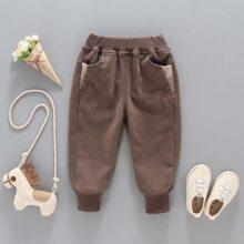 Toddler Boys Contrast Panel Pants