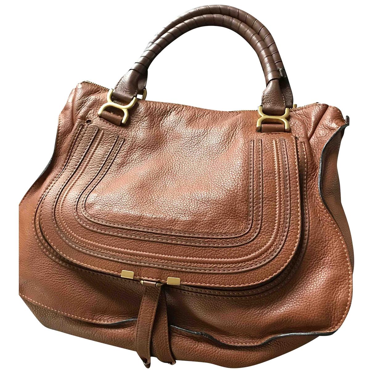 Chloé Marcie Brown Leather handbag for Women N