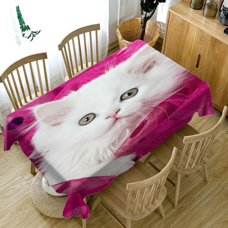 Waterproof Oilproof Printed Home Use European Style 3D Tablecloth