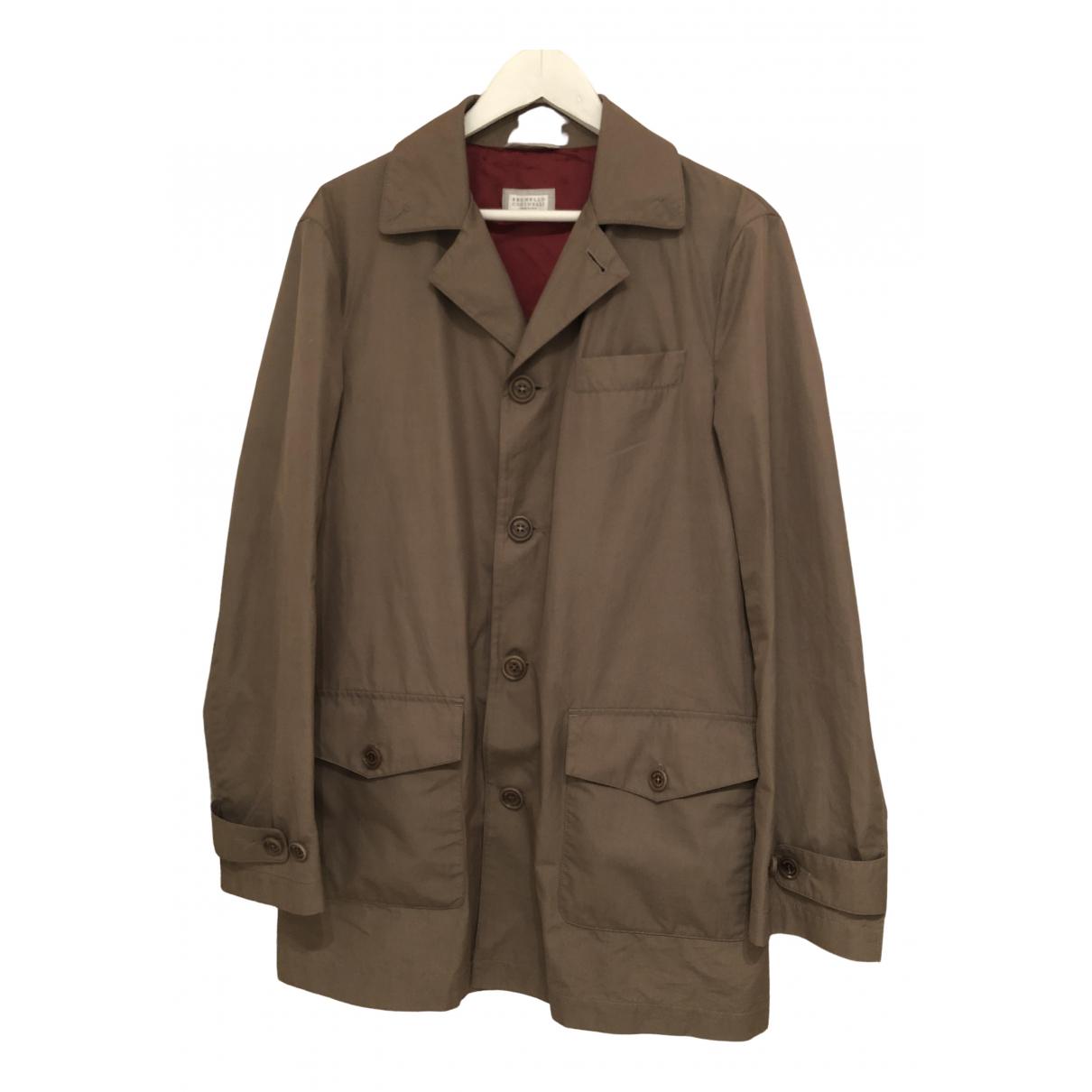 Brunello Cucinelli \N Beige Cotton jacket  for Men 52 IT