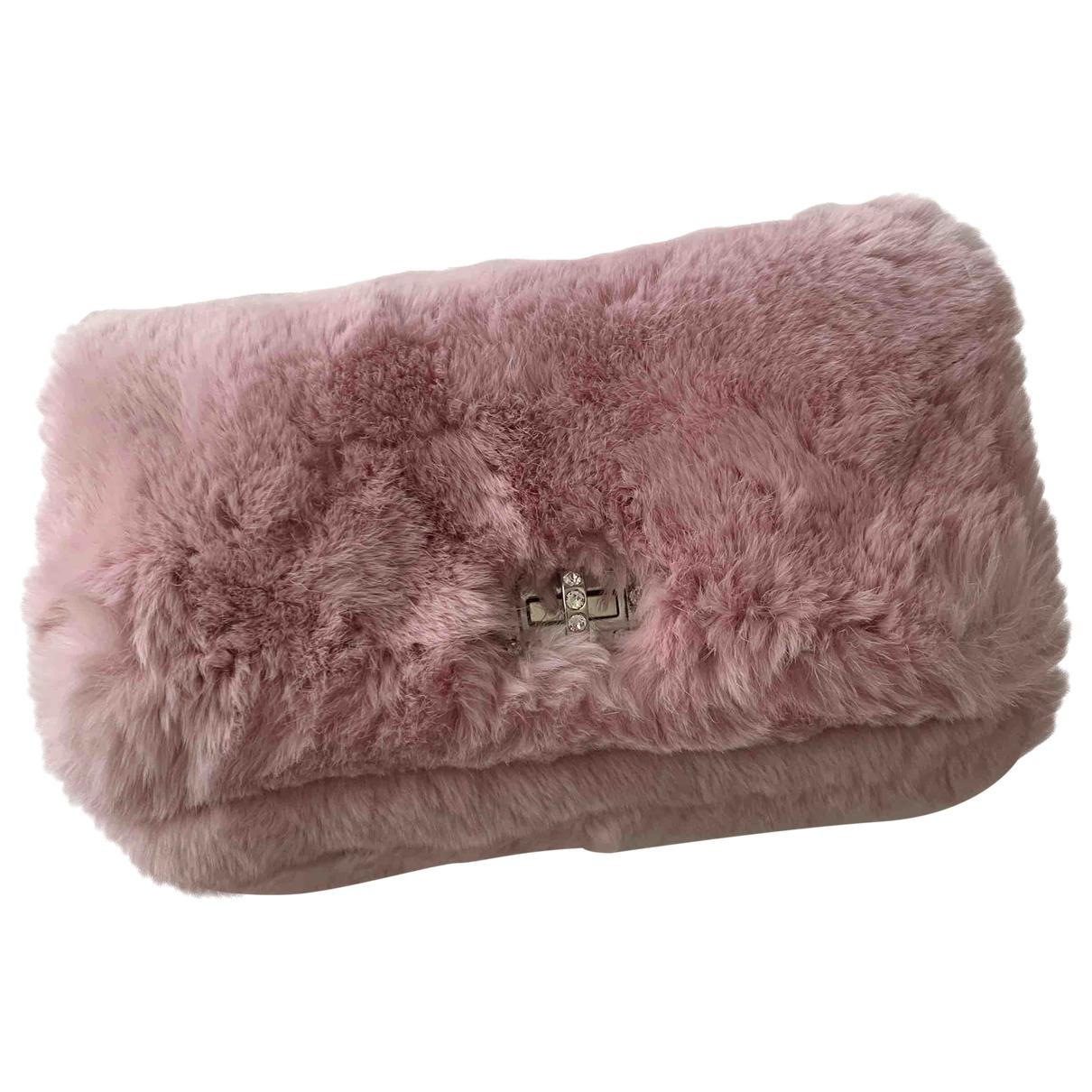 Miu Miu Miu Crystal Clutch in  Rosa Fell