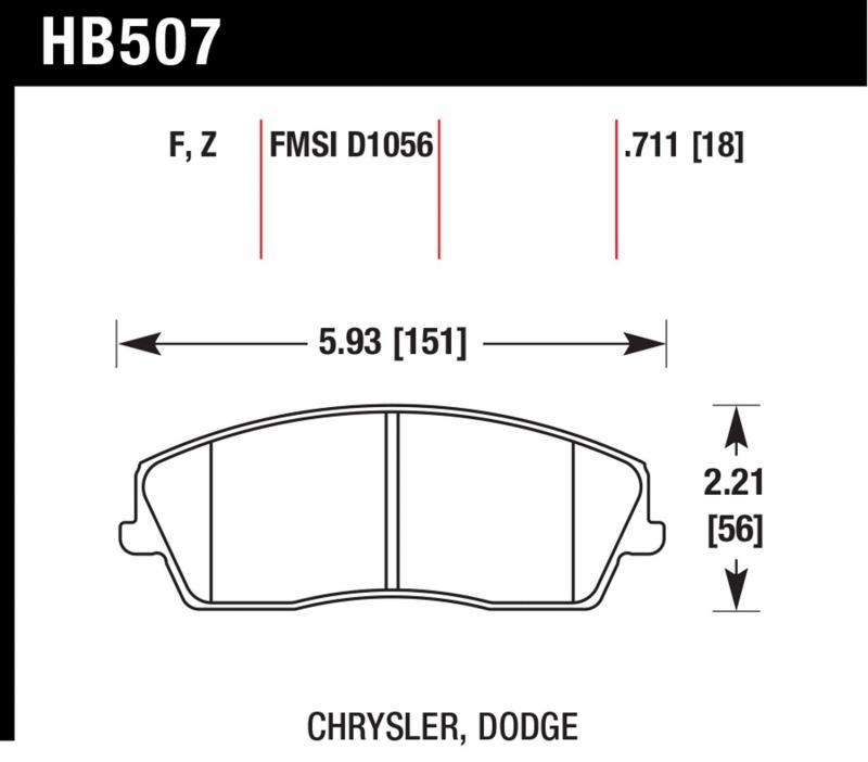 Hawk Performance HB507F.711 Disc Brake Pad Front