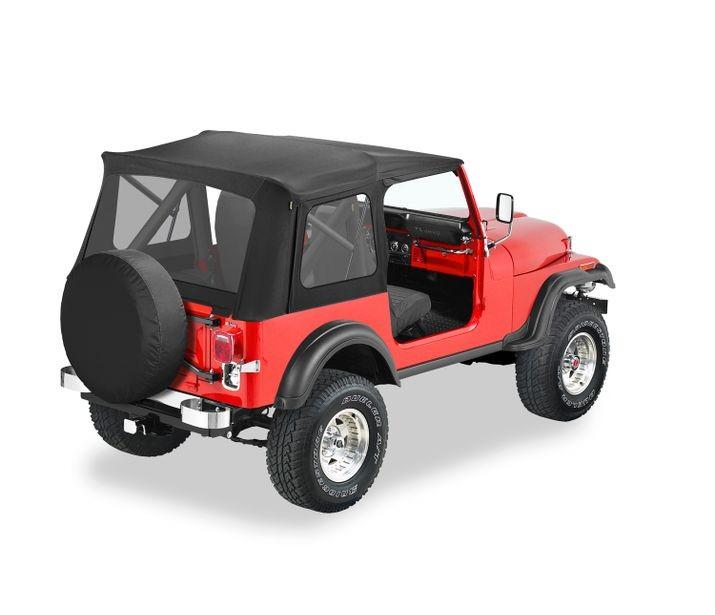 Bestop 51599-01 Black Crush Supertop Classic Soft Top Jeep CJ-7 | Wrangler 1976-1995