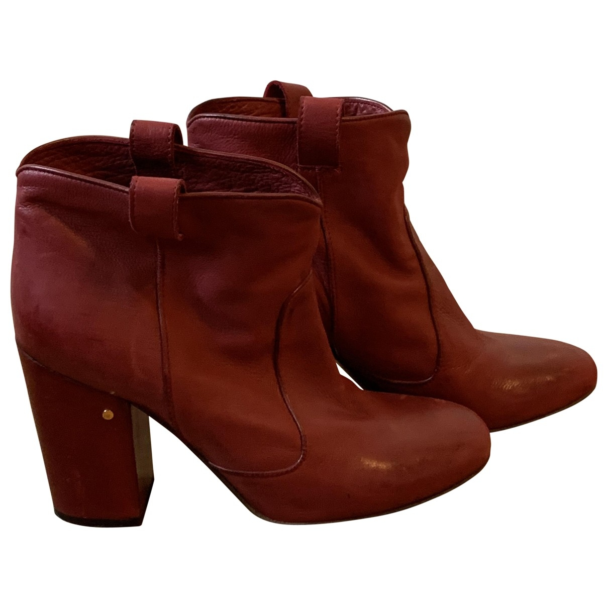 Laurence Dacade \N Red Leather Ankle boots for Women 39 EU