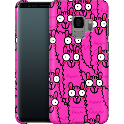 Samsung Galaxy S9 Smartphone Huelle - Lama Pink Dream von Flossy and Jim