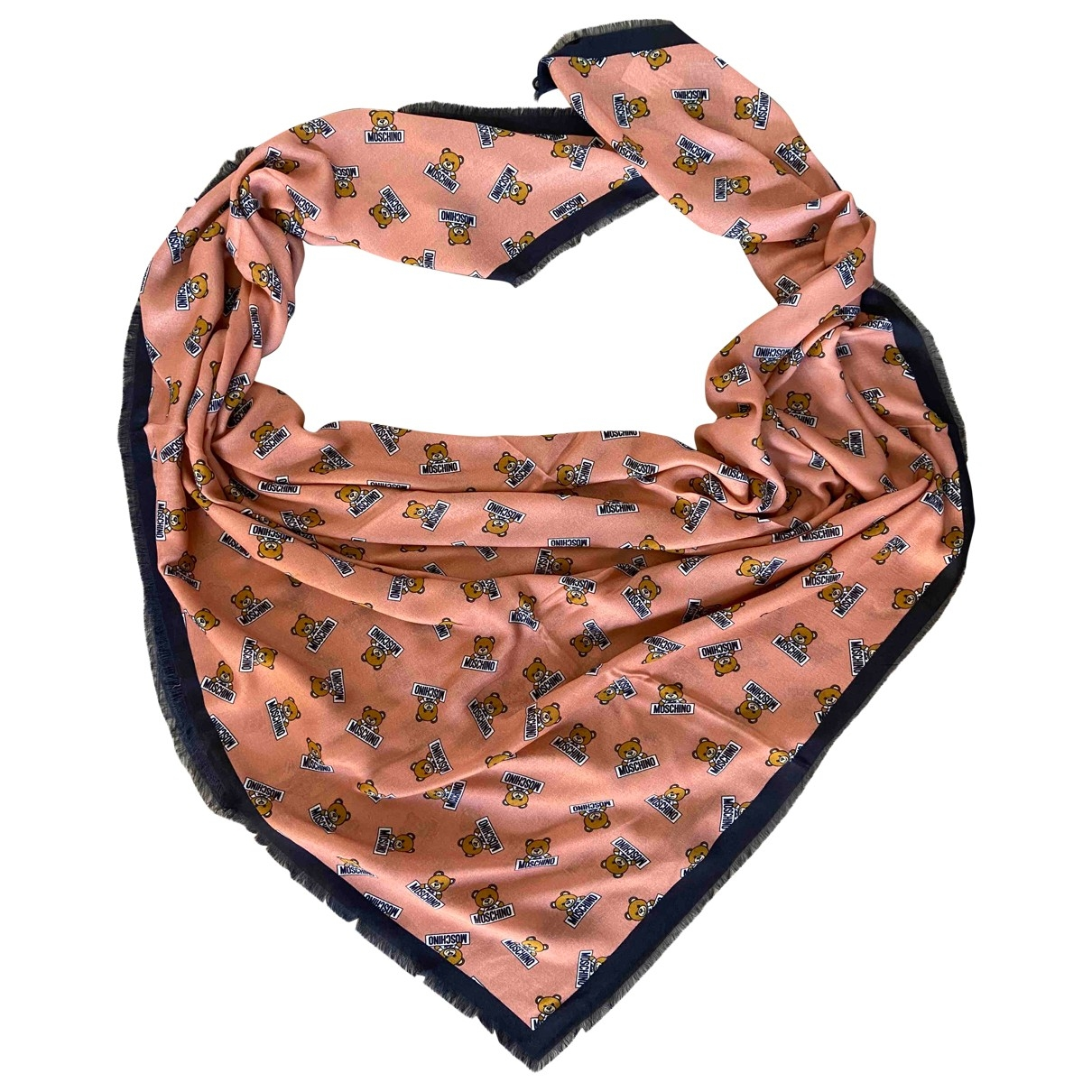 Moschino \N Orange Wool scarf for Women \N