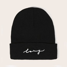 Guys Embroidery Knitted Beanie