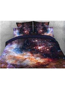 Vivilinen 3D Galaxy and Galactic Nebula Printed 5-Piece Comforter Sets