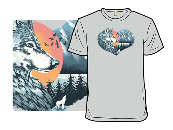 As The Wild Heart Howls T Shirt