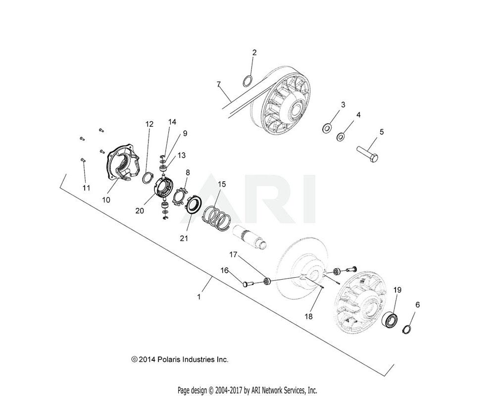 Polaris OEM 3234197 ROLLER, CLUTCH
