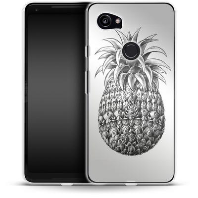 Google Pixel 2 XL Silikon Handyhuelle - Ornate Pineapple von BIOWORKZ