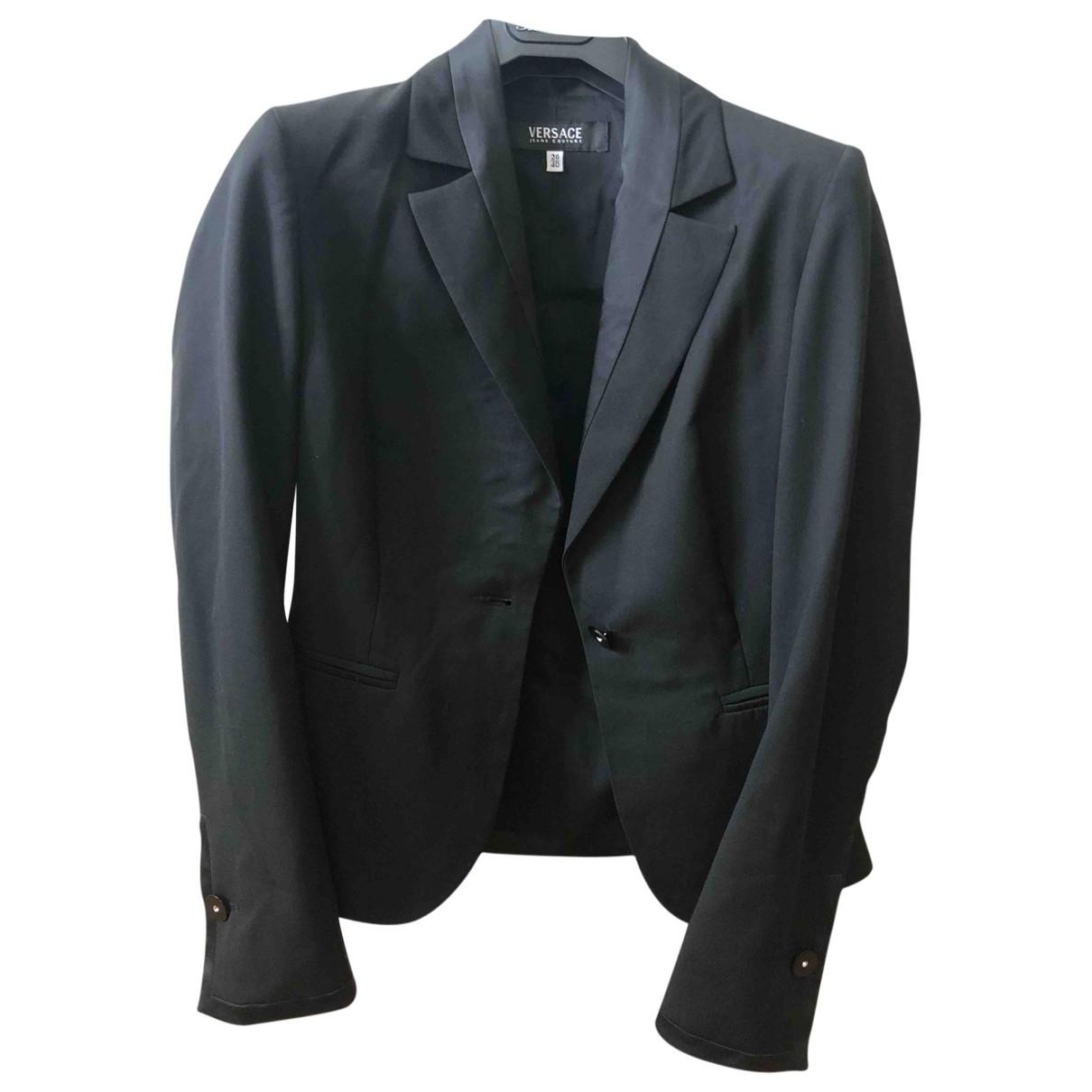 Versace Jeans \N Jacke in  Schwarz Wolle