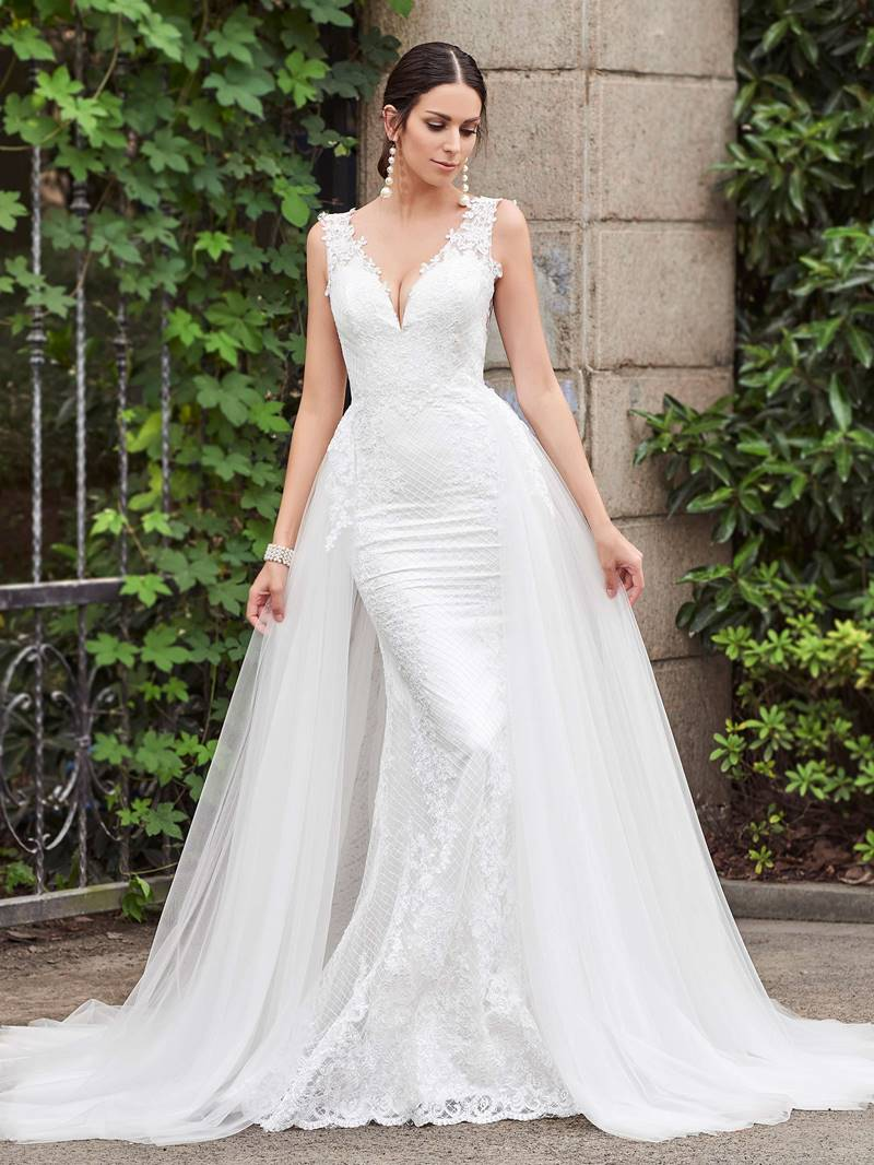 Ericdress Low Back Mermaid Lace Wedding Dress with Train