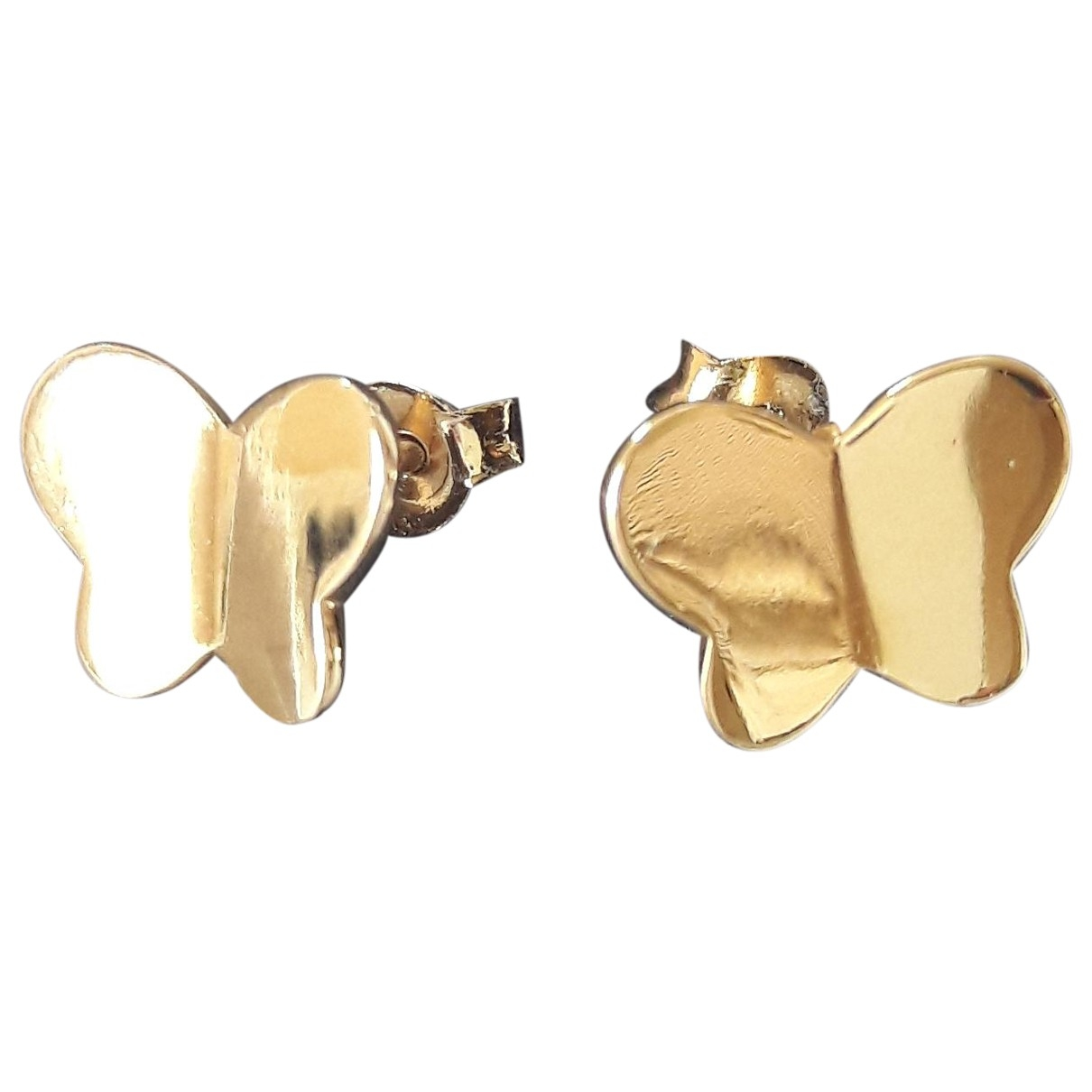 Non Signe / Unsigned Motifs Animaliers OhrRing in  Gold Vergoldet