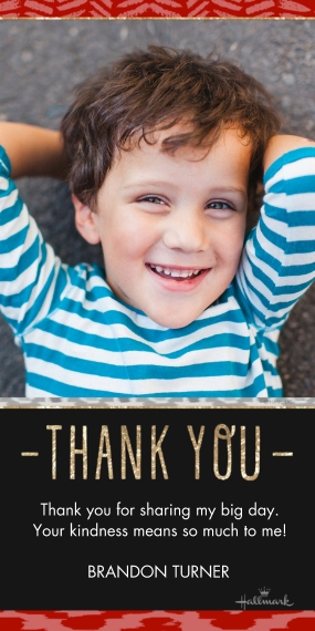 Thank You Cards Flat Matte Photo Paper Cards with Envelopes, 4x8, Card & Stationery -Sparkle Ikat Thank You