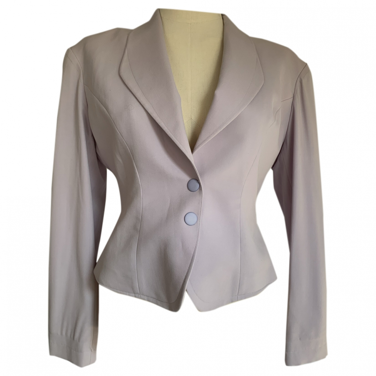 Thierry Mugler \N Purple Wool jacket for Women 42 FR