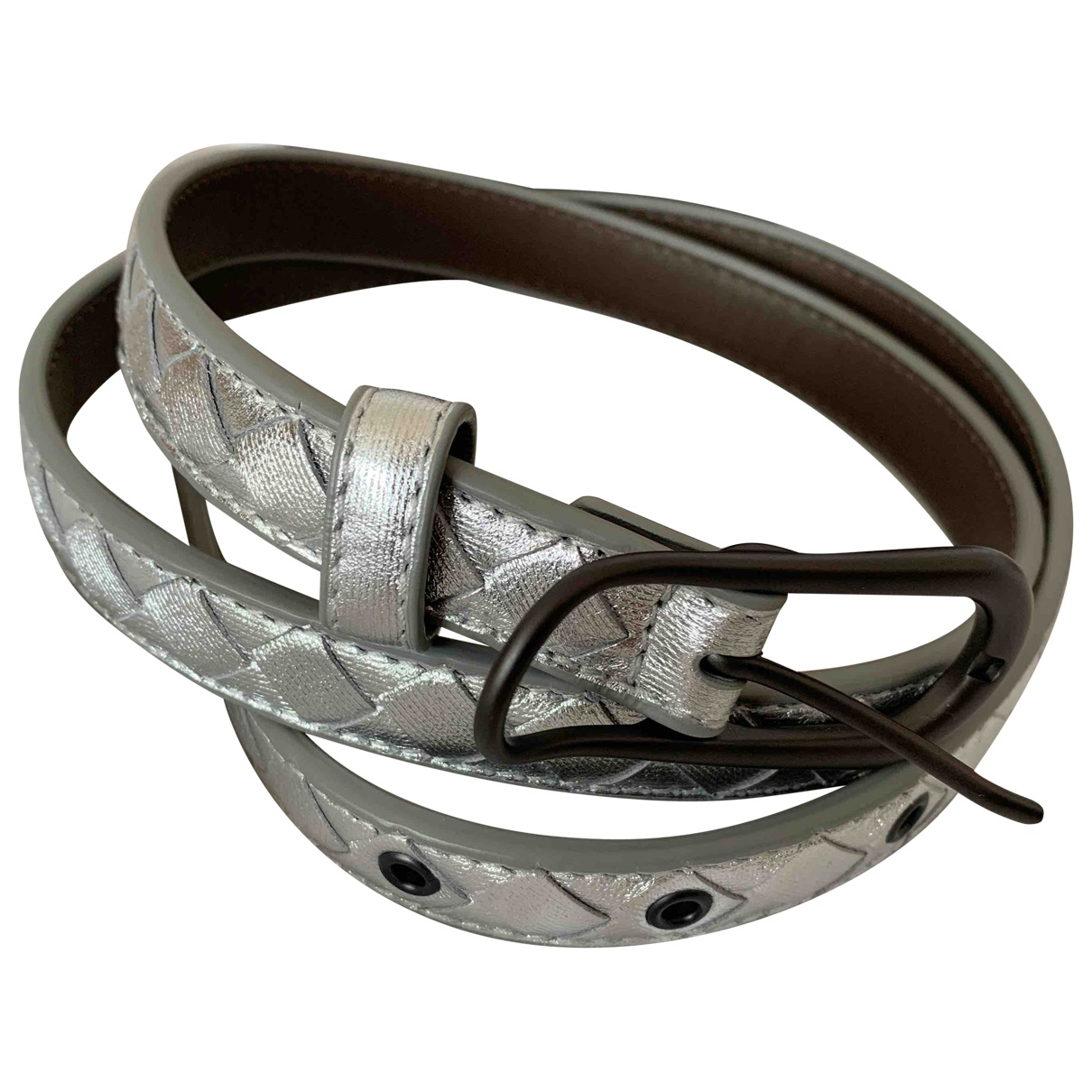 Bottega Veneta \N Silver Leather belt for Women 80 cm