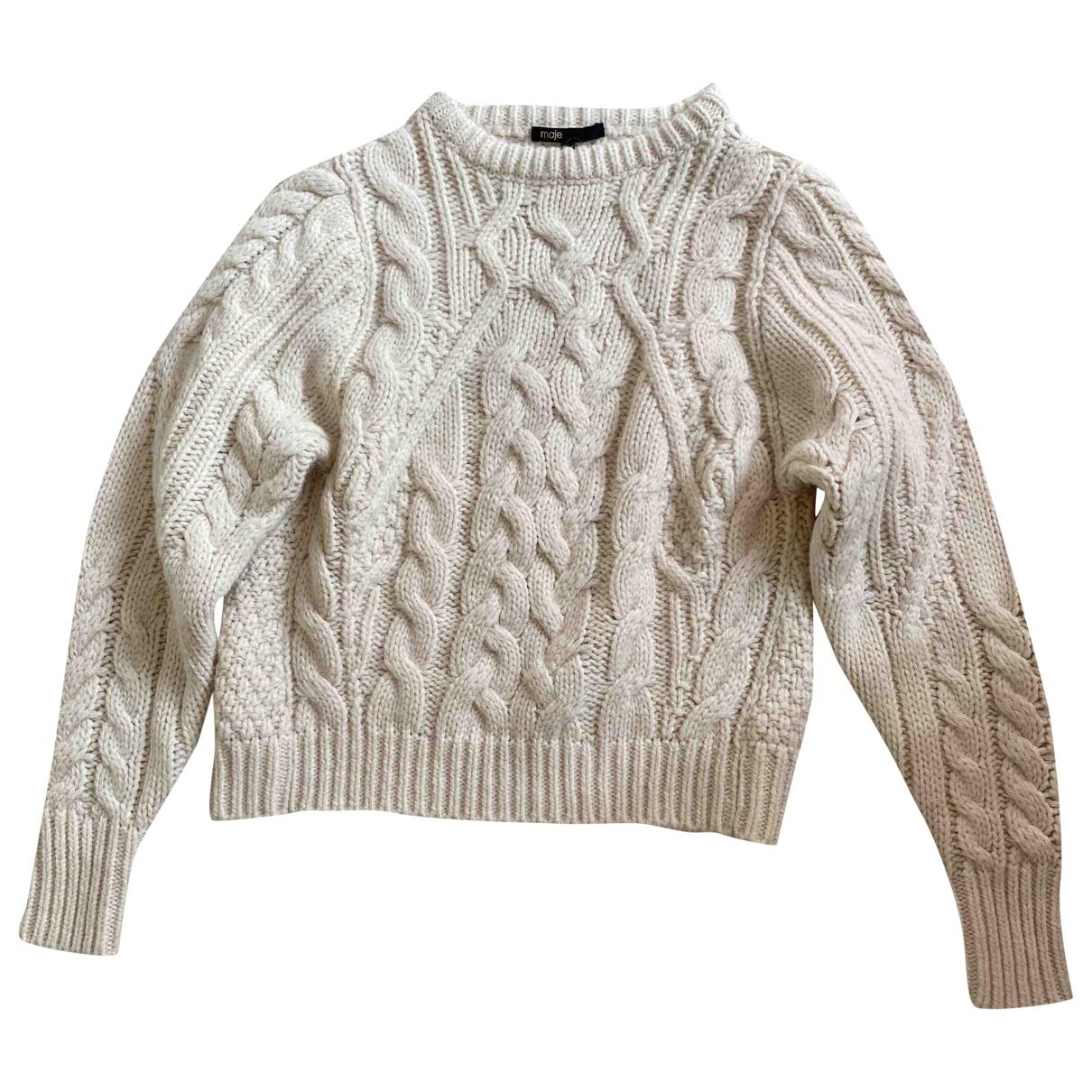Maje - Pull   pour femme en laine - blanc