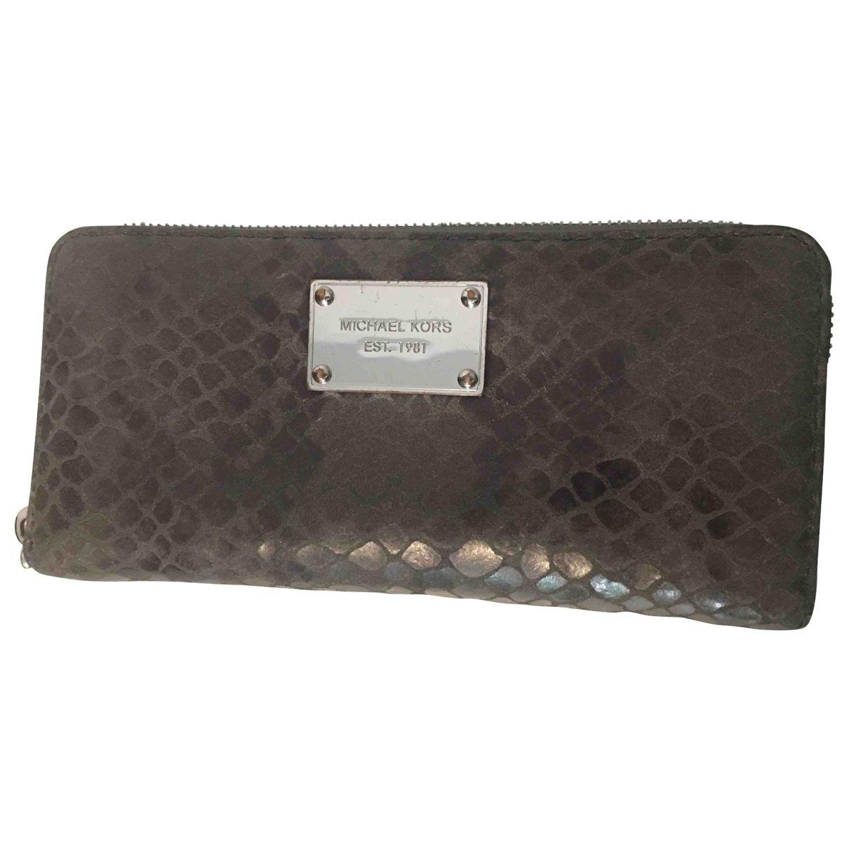 Michael Kors \N Grey Leather wallet for Women \N