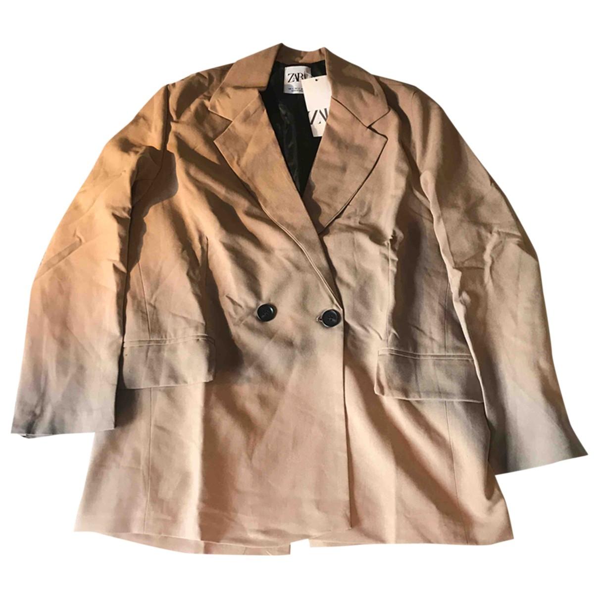 Zara \N Beige Cotton jacket for Women S International