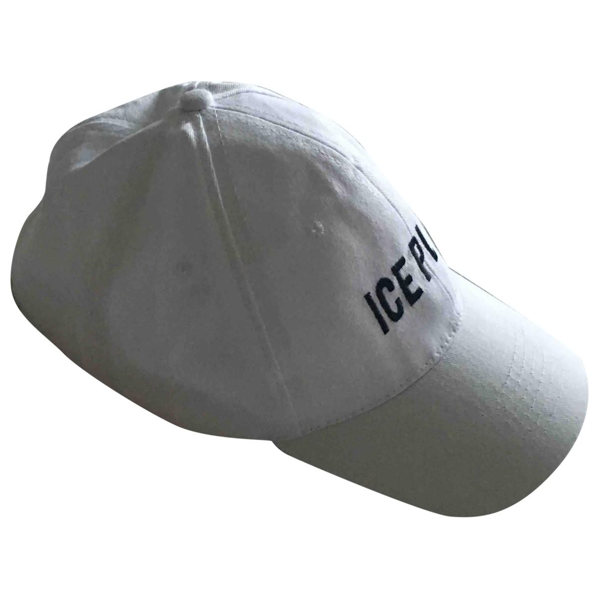 Iceberg \N Hut, Muetzen in  Weiss Baumwolle