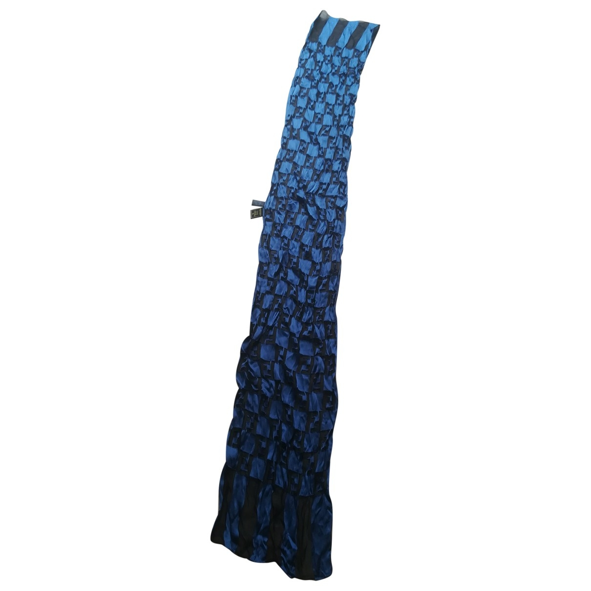 Fendi - Foulard   pour femme en soie - bleu