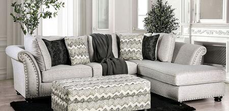 Pasquale Collection SM5150-SECT 2-Piece Sectional Sofa with Left Arm Facing Sofa and Right Arm Facing Chaise in