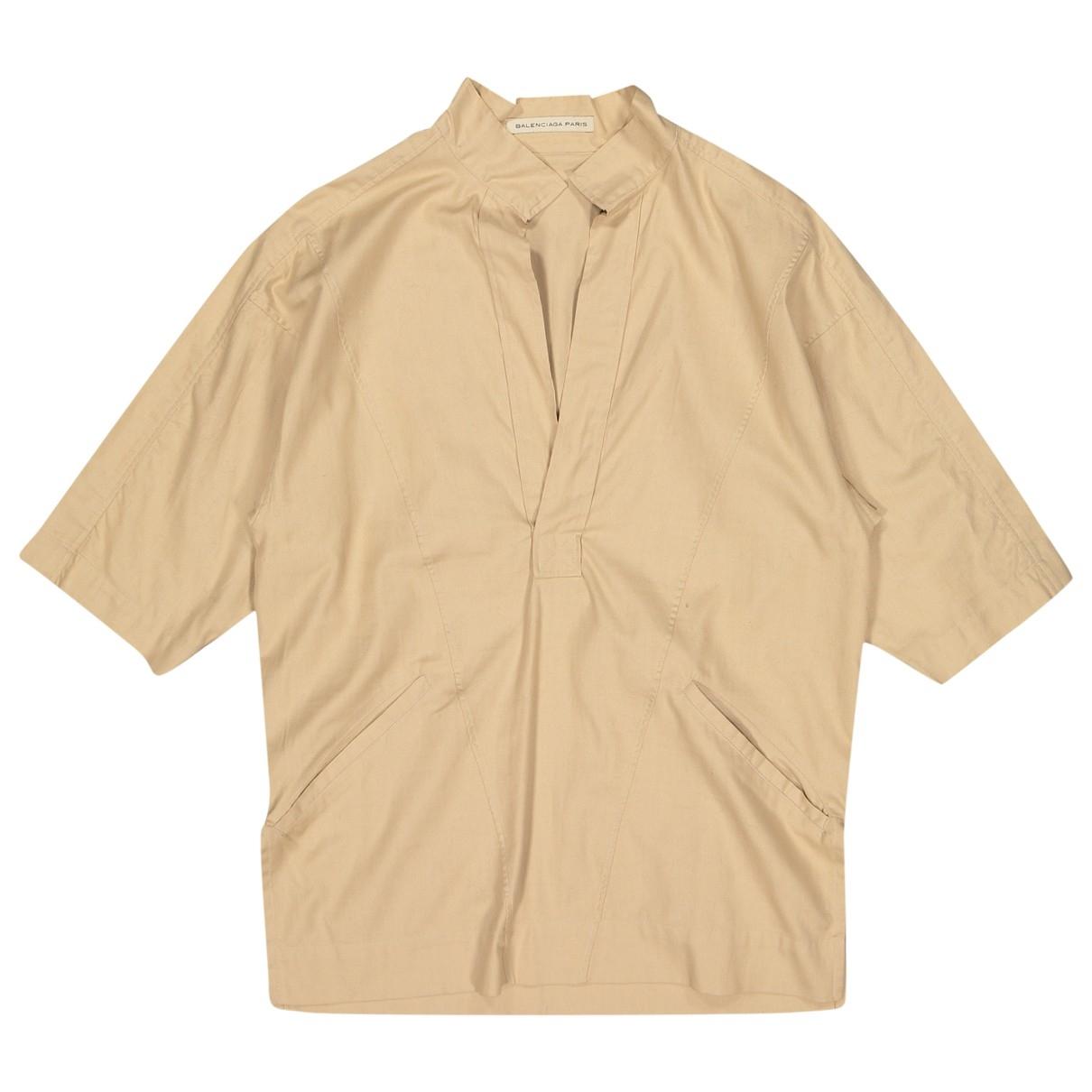 Balenciaga \N Beige Cotton  top for Women S International